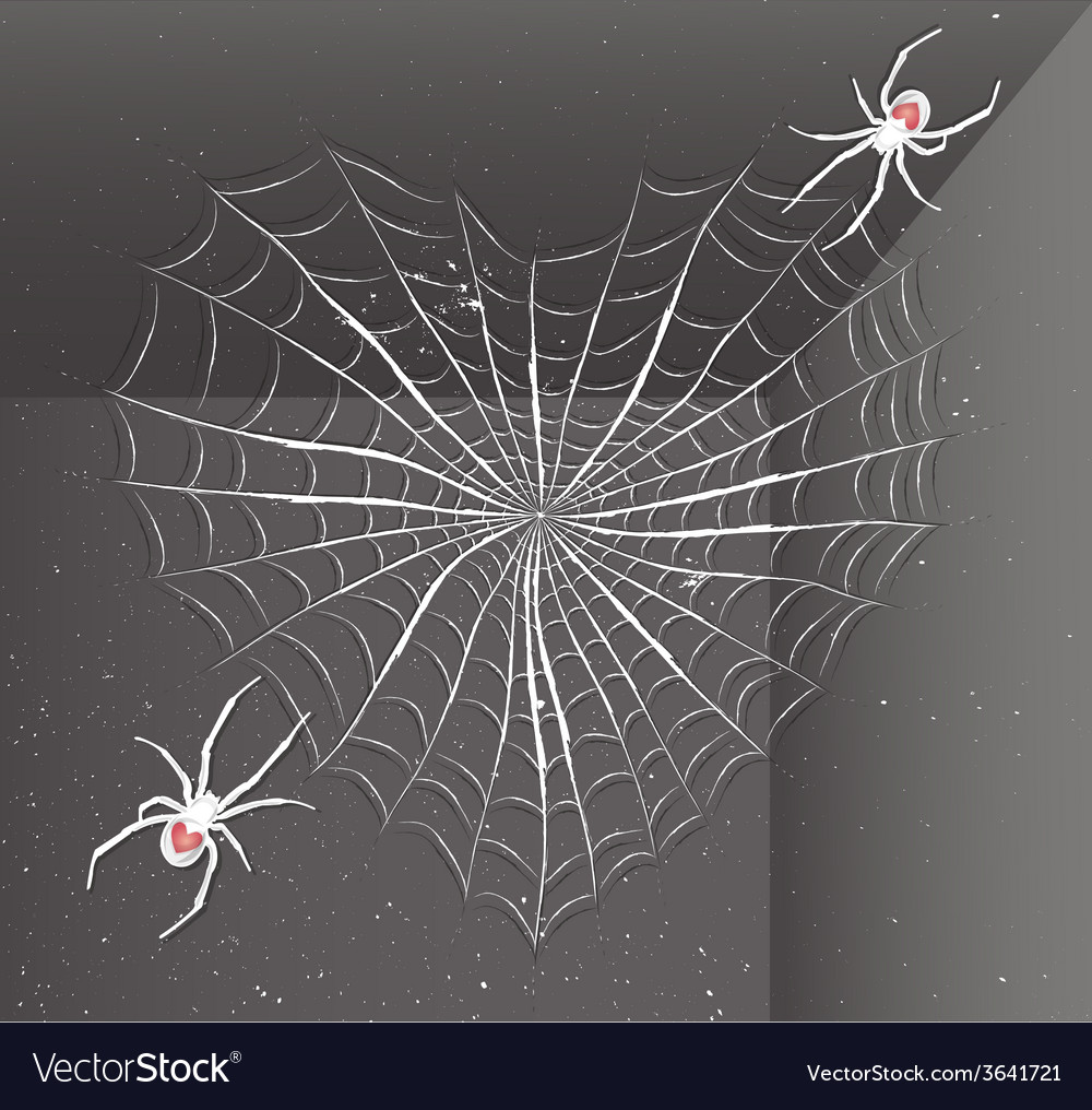 Spiders with heart vector | Price: 1 Credit (USD $1)