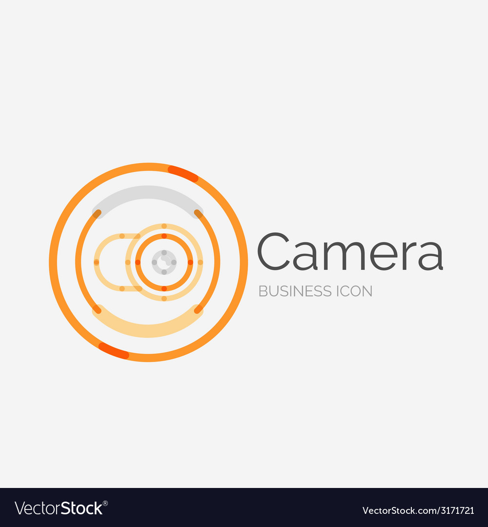 Thin line neat design logo camera concept vector | Price: 1 Credit (USD $1)