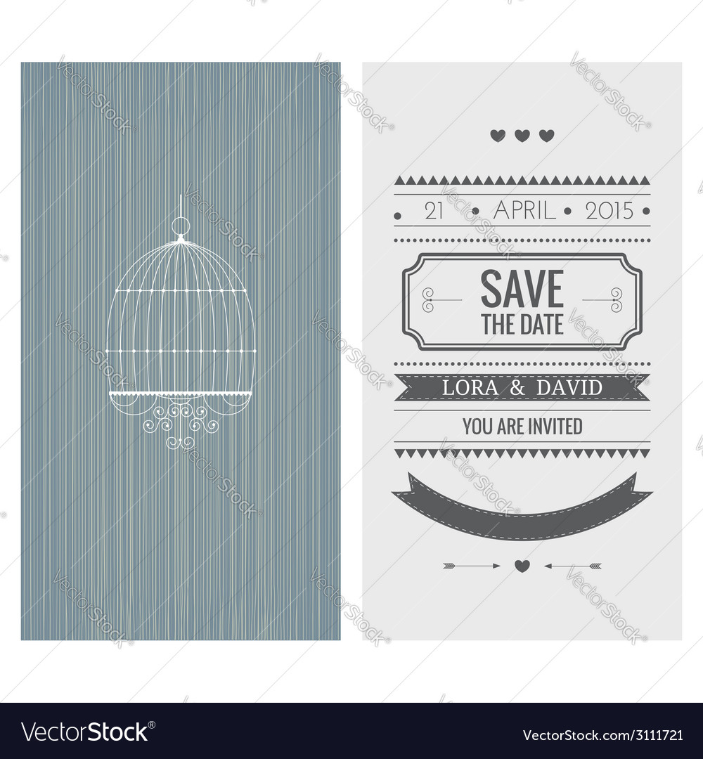 Wedding invitation card save the date vector | Price: 1 Credit (USD $1)