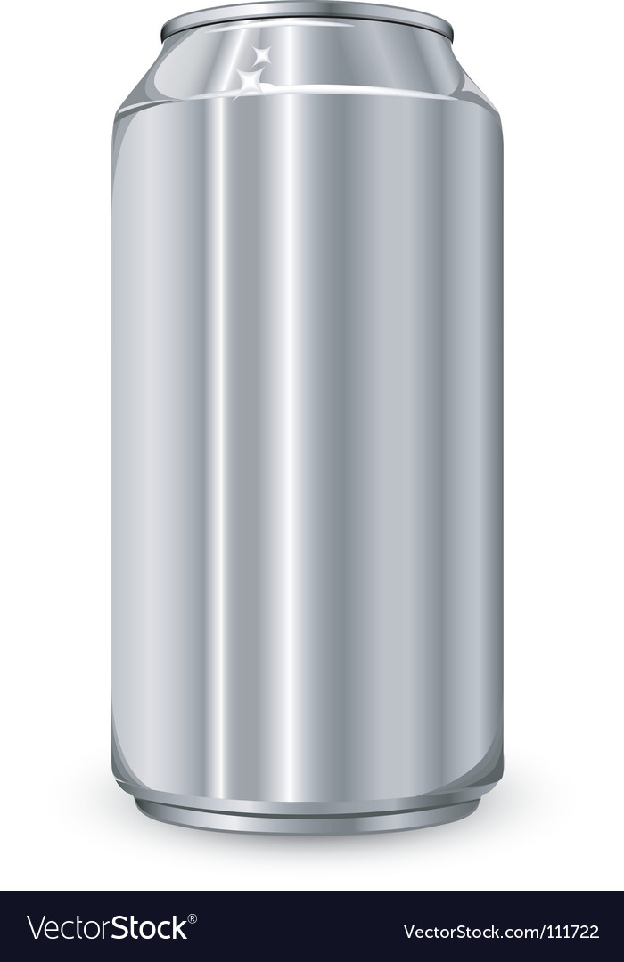 Aluminum jar vector | Price: 1 Credit (USD $1)