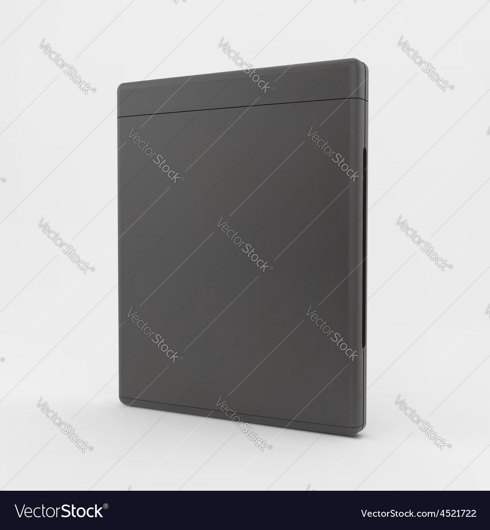 Blank dvdcase or cdcase 3d vector