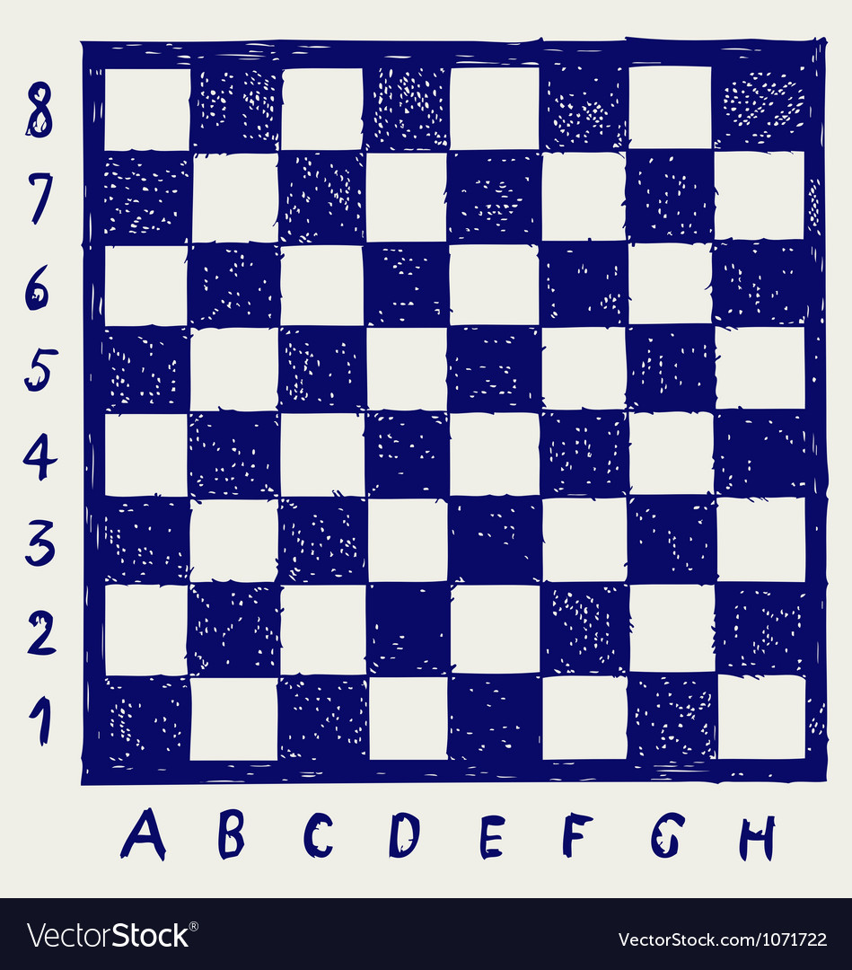 Chessboard with letters and numbers vector | Price: 1 Credit (USD $1)