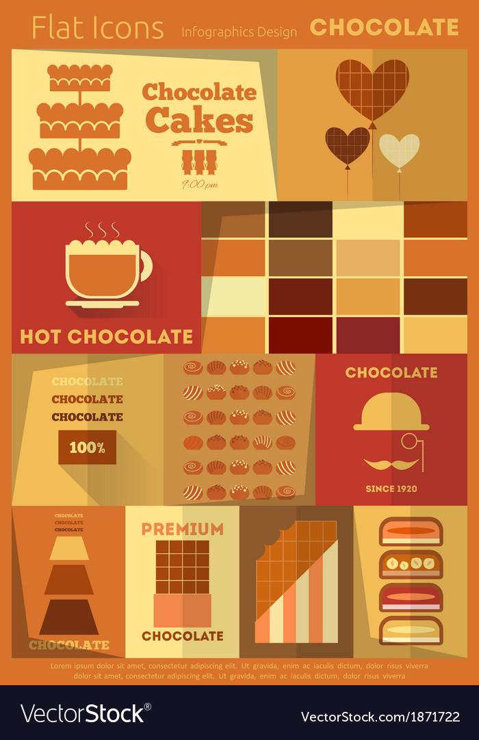 Chocolate retro labels vector | Price: 1 Credit (USD $1)