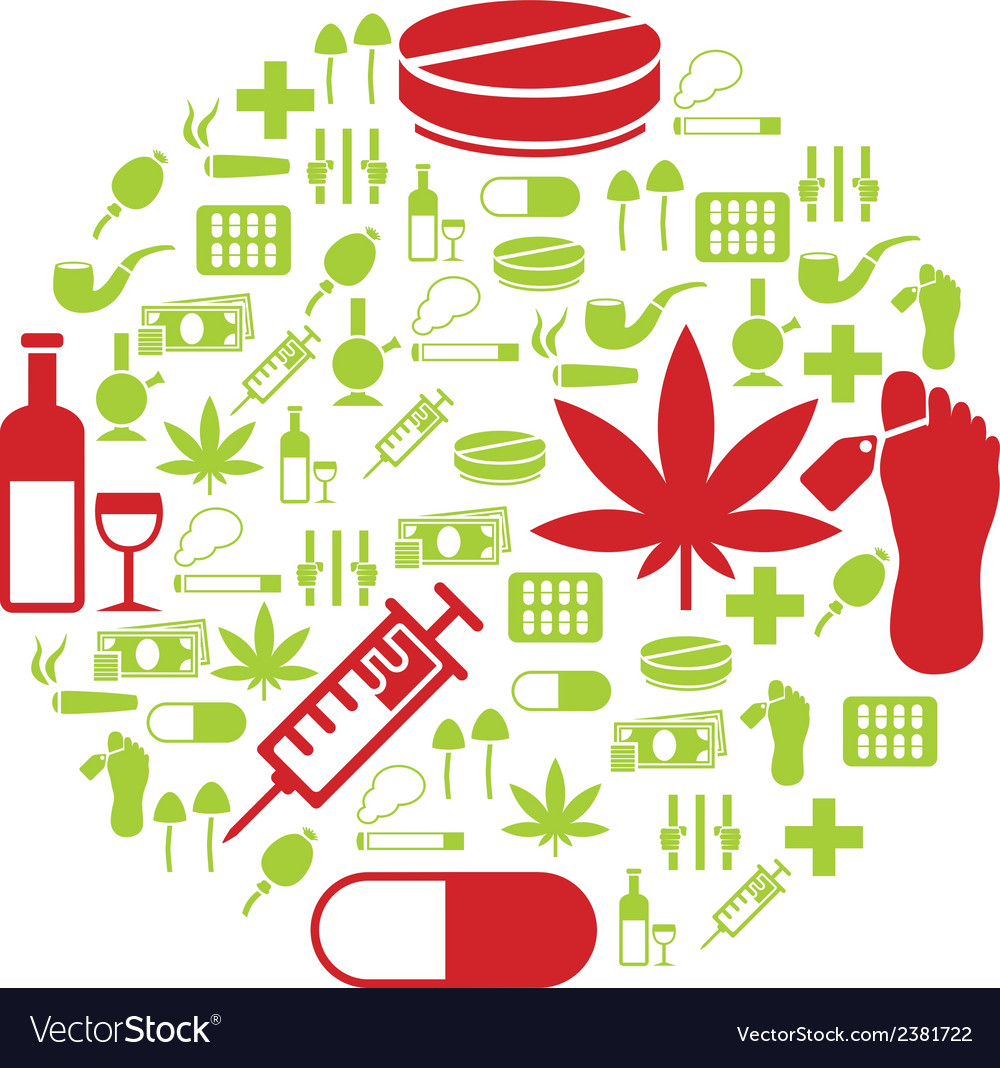 Drug icons in circle vector | Price: 1 Credit (USD $1)