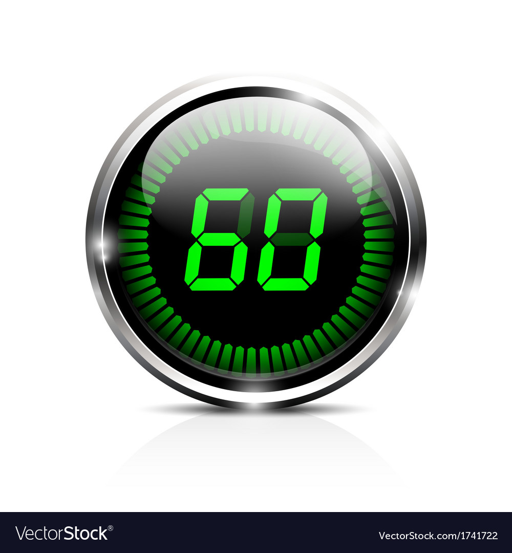 Electronic timer 60 seconds vector | Price: 1 Credit (USD $1)
