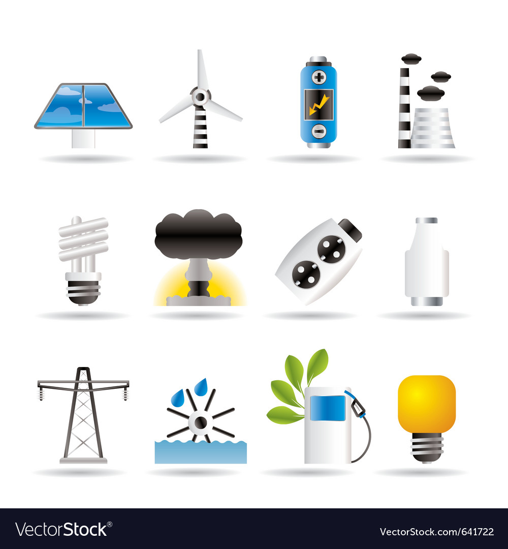 Energy and electricity icons vector | Price: 1 Credit (USD $1)