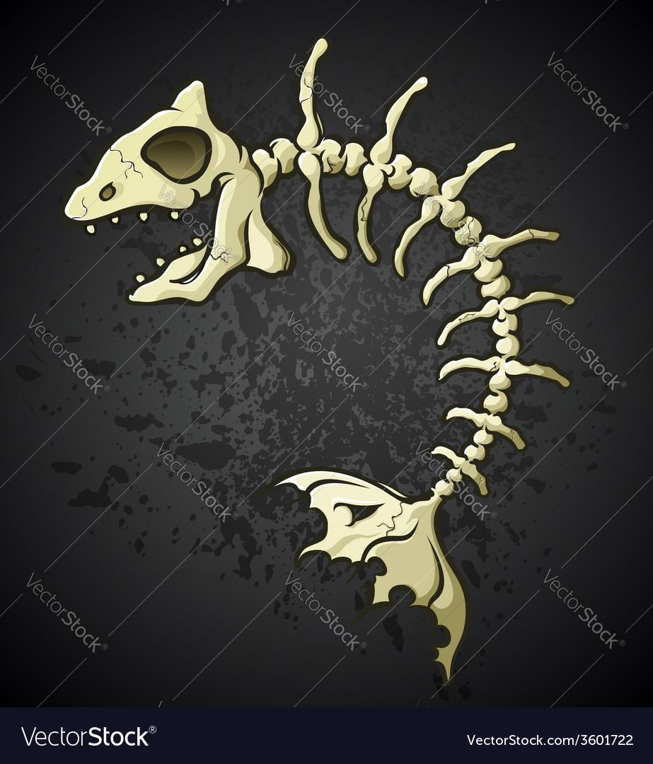 Fish bones cartoon vector | Price: 3 Credit (USD $3)