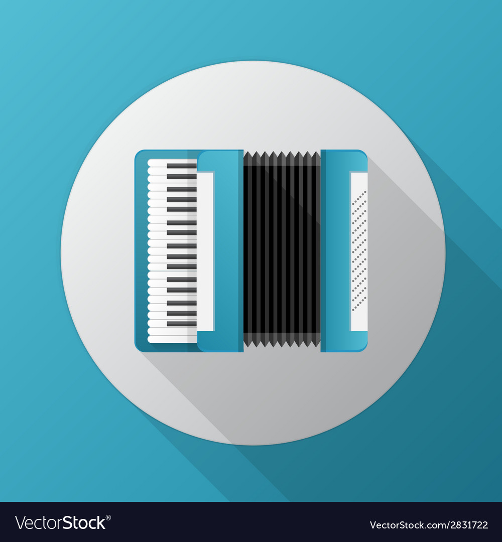 Flat icon for blue accordion vector | Price: 1 Credit (USD $1)