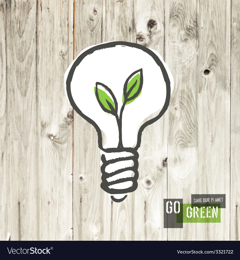 Green eco energy concept lightbulb vector | Price: 1 Credit (USD $1)