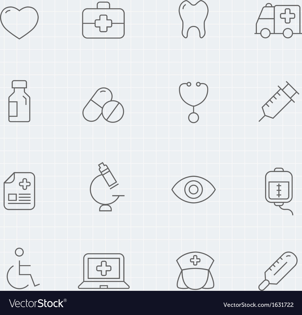 Healthy and medical thin line symbol icon vector | Price: 1 Credit (USD $1)