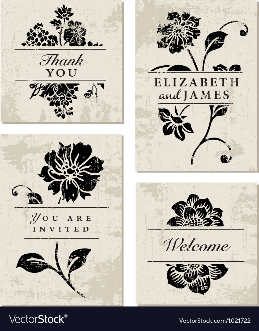 Modern floral template vector | Price: 1 Credit (USD $1)