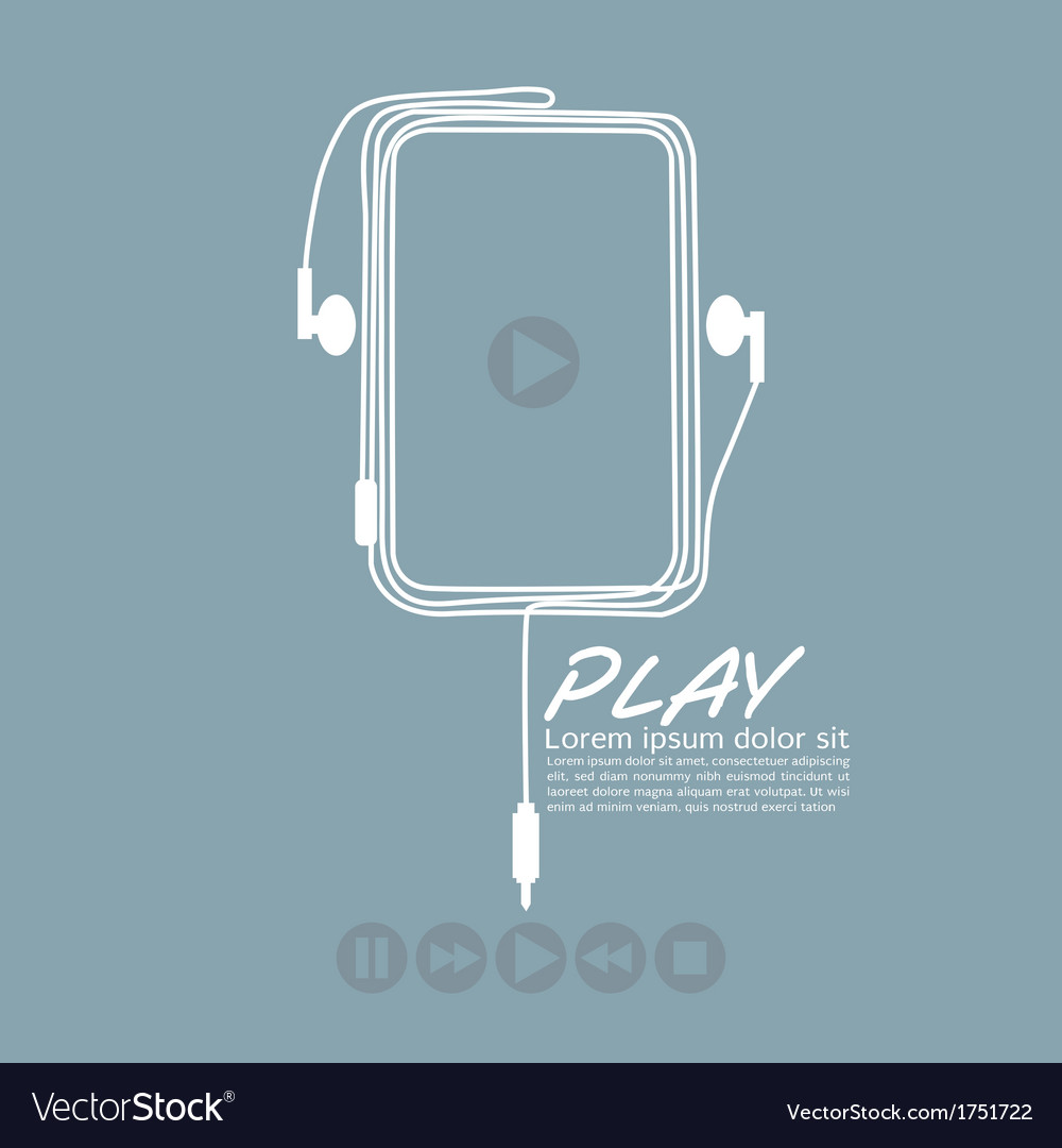 Music player eps10 vector | Price: 1 Credit (USD $1)