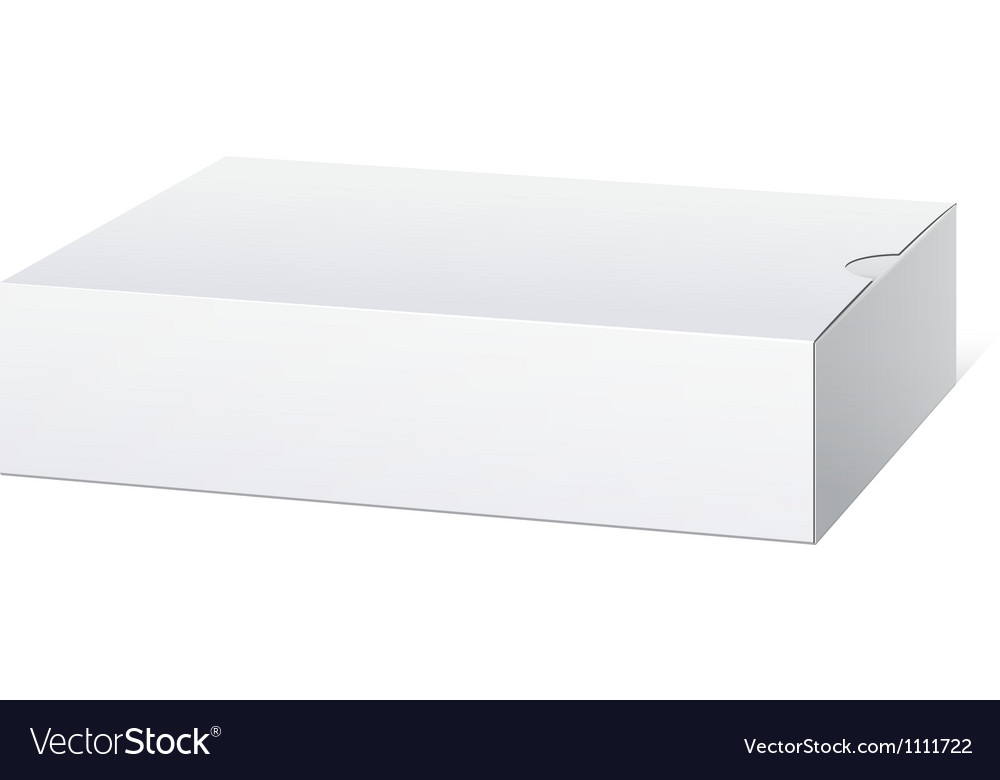 Package cardboard box lying horizontally vector | Price: 1 Credit (USD $1)