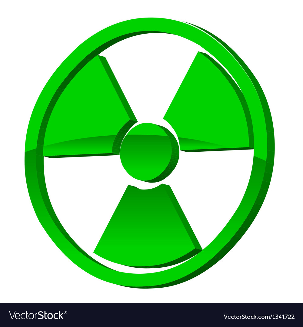 Radioactive 3d icon vector | Price: 1 Credit (USD $1)