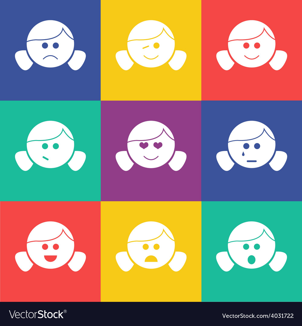 Smiles horn flat vector | Price: 1 Credit (USD $1)