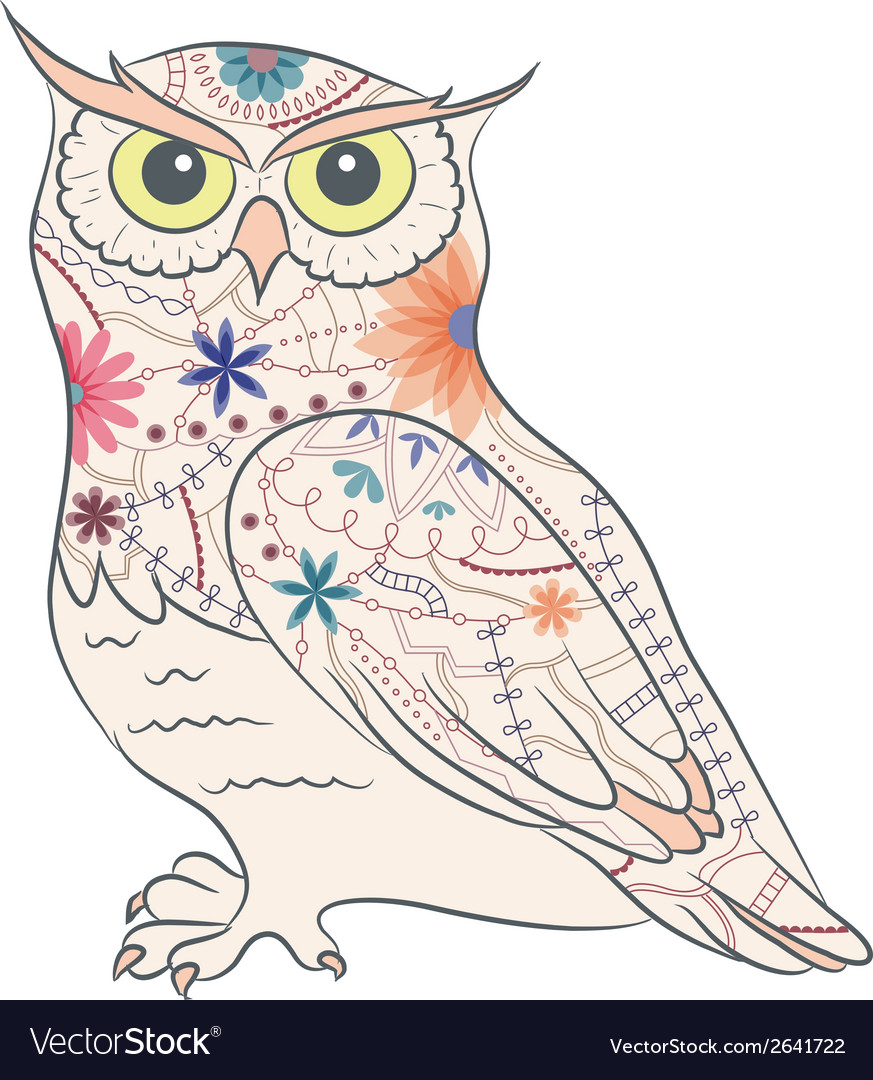 Vintage owl vector | Price: 1 Credit (USD $1)