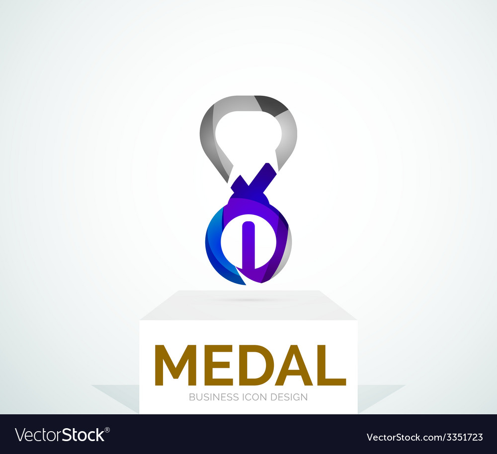 Abstract colorful logo design medal vector | Price: 1 Credit (USD $1)