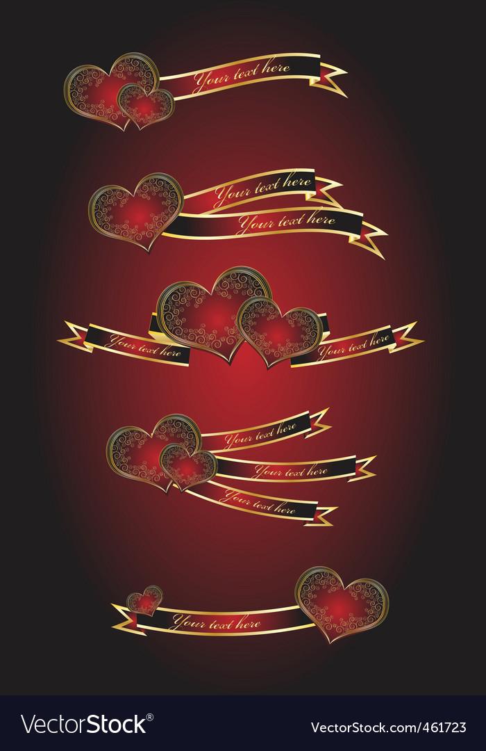 Celebration heart ribbons vector   Price: 1 Credit (USD $1)