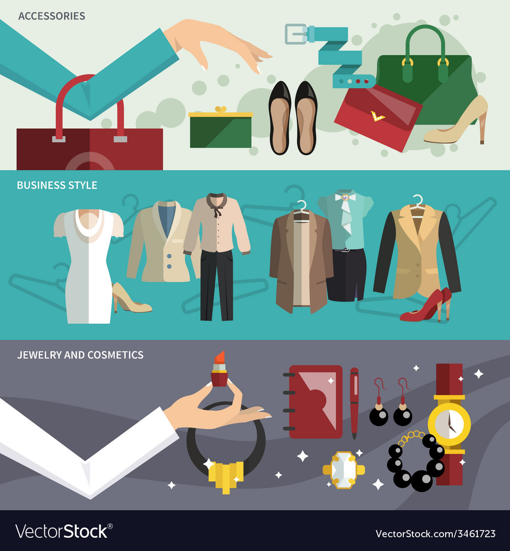 Clothes banner set vector | Price: 1 Credit (USD $1)