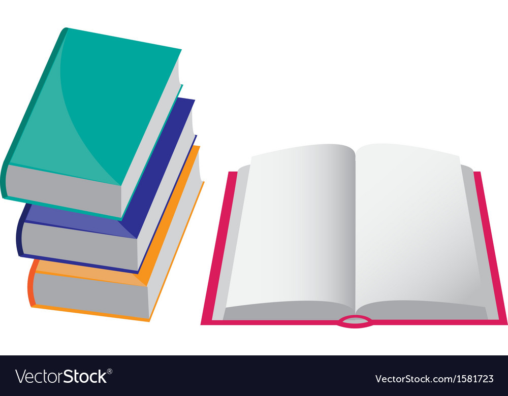 Four books vector | Price: 1 Credit (USD $1)