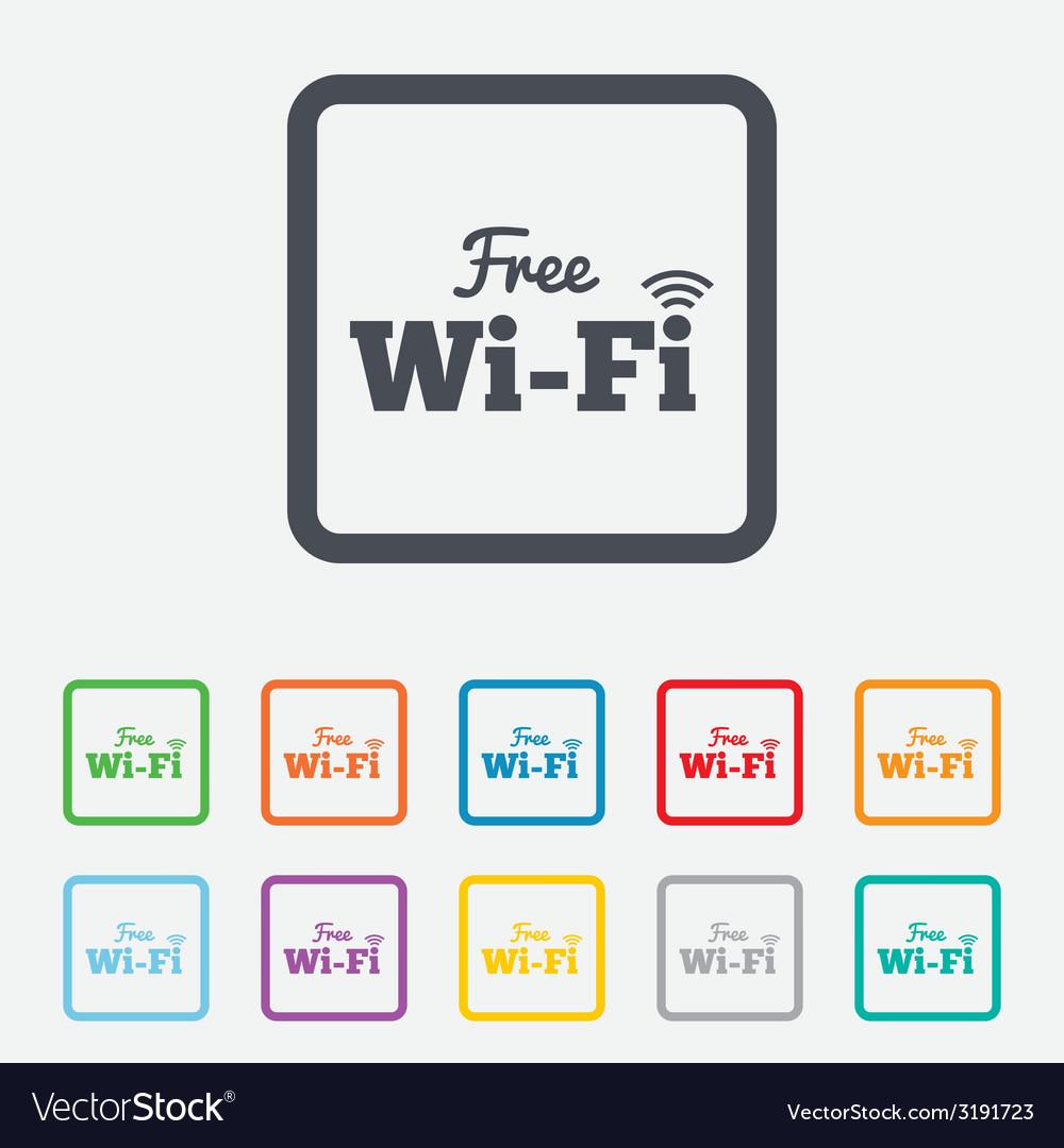 Free wifi sign wifi symbol wireless network vector | Price: 1 Credit (USD $1)