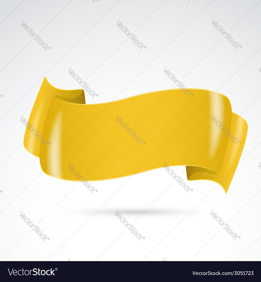 Golden badge sign ribbon template vector | Price: 1 Credit (USD $1)