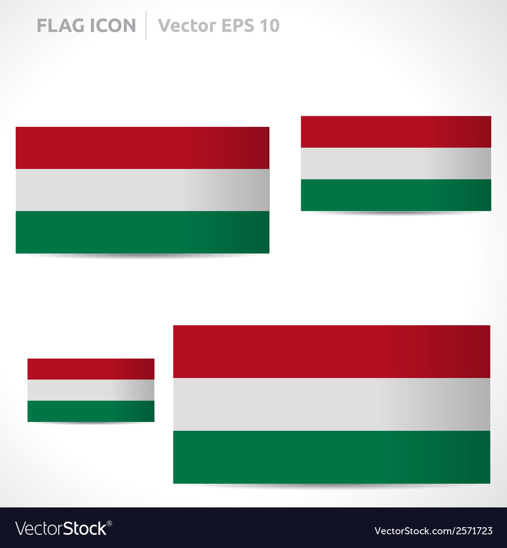 Hungary flag template vector | Price: 1 Credit (USD $1)
