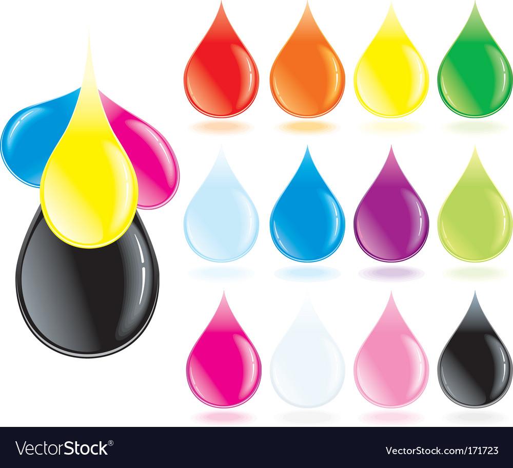 Ink drops vector | Price: 1 Credit (USD $1)