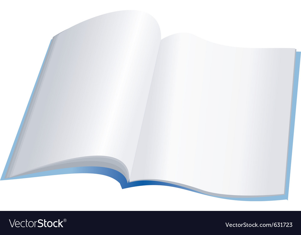 Open notebook with clear pages vector | Price: 1 Credit (USD $1)