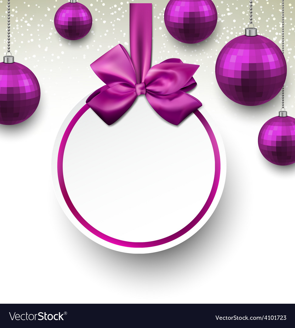 Purple paper round holiday labels vector   Price: 1 Credit (USD $1)