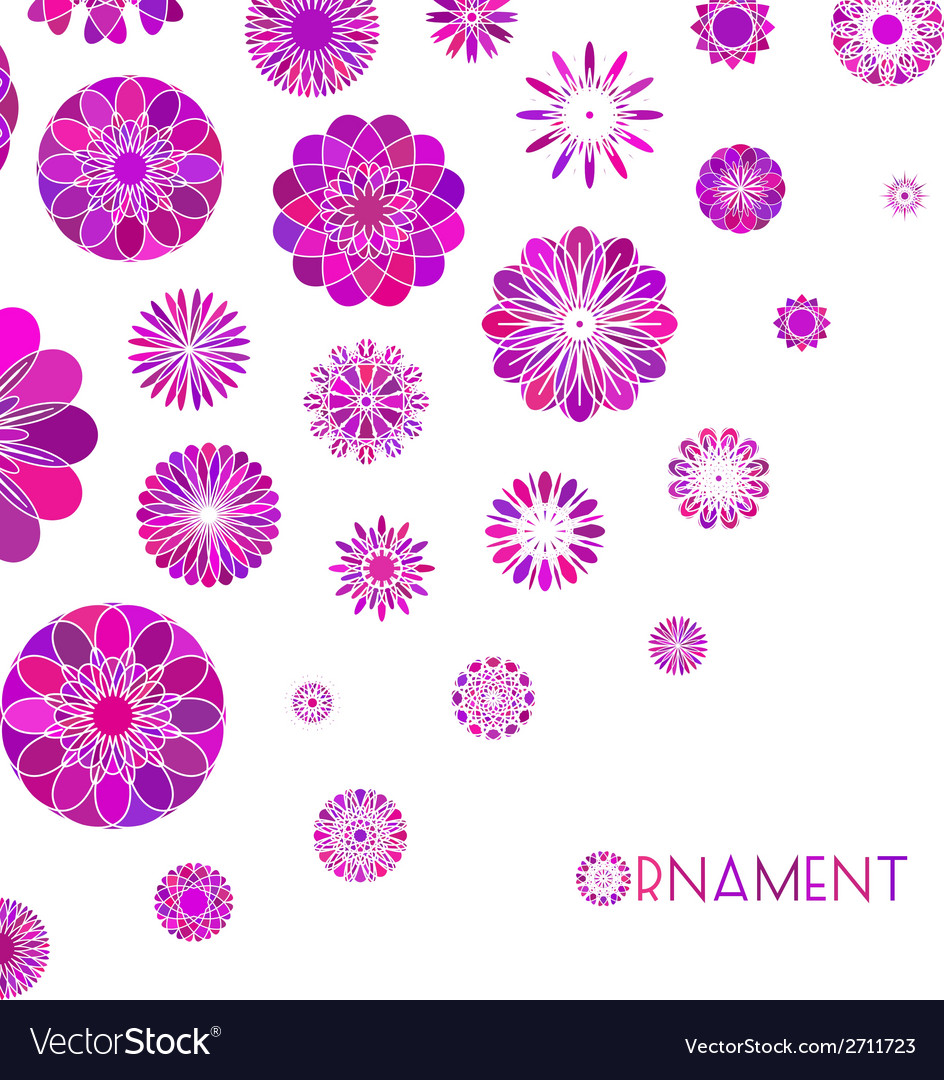 Round ornament background vector | Price: 1 Credit (USD $1)