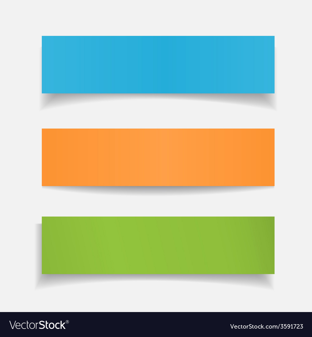 Set realistic colorful paper sheet vector | Price: 1 Credit (USD $1)