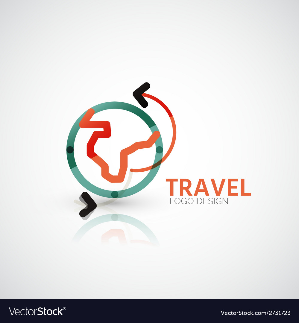 Travel company logo business concept vector | Price: 1 Credit (USD $1)