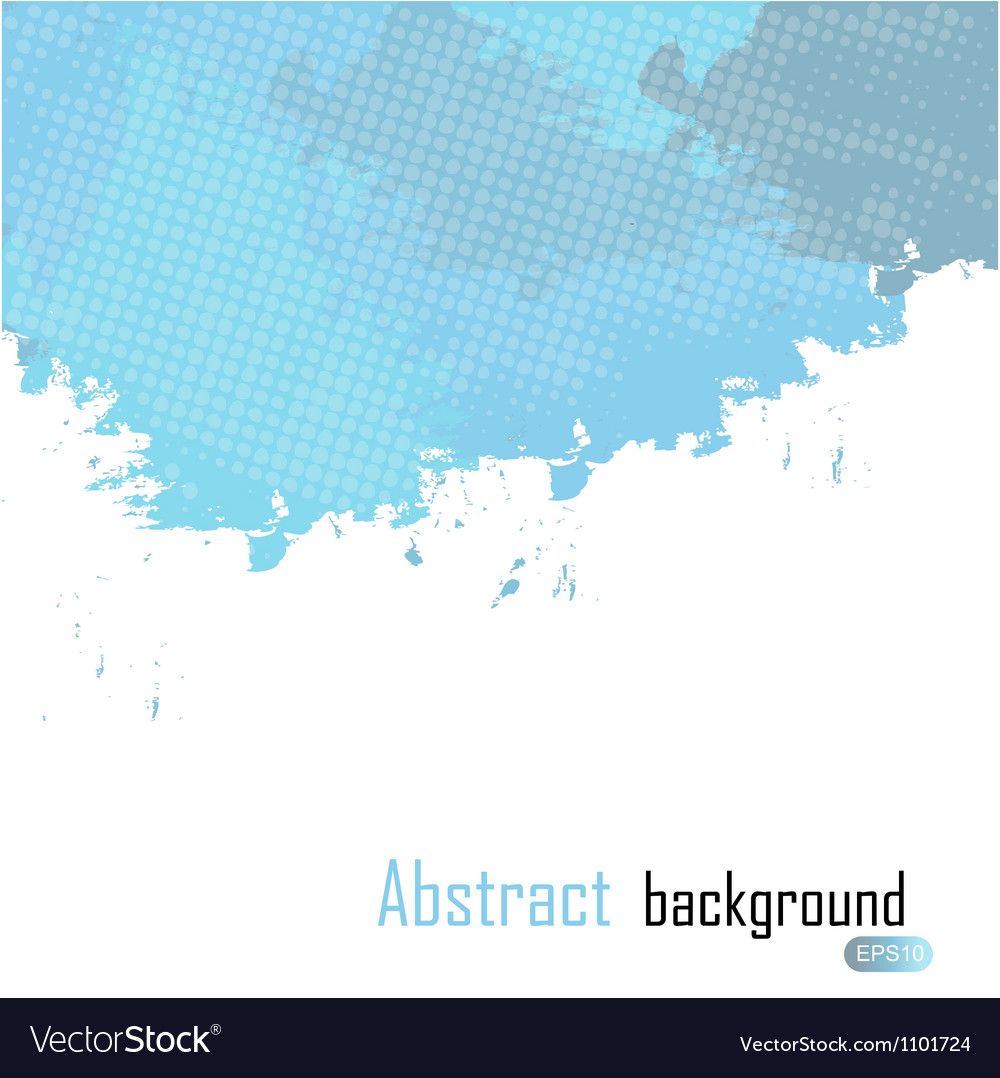 Blue abstract paint splashes  background wit vector | Price: 1 Credit (USD $1)