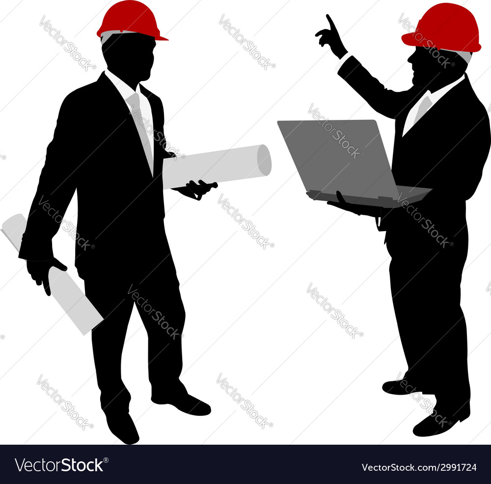 Businessmen with hard hat vector | Price: 1 Credit (USD $1)