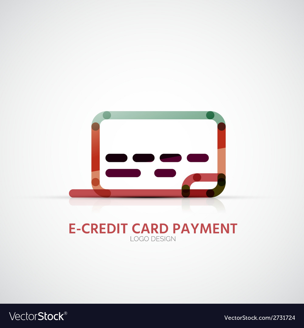 Credit card company logo business symbol concept vector | Price: 1 Credit (USD $1)