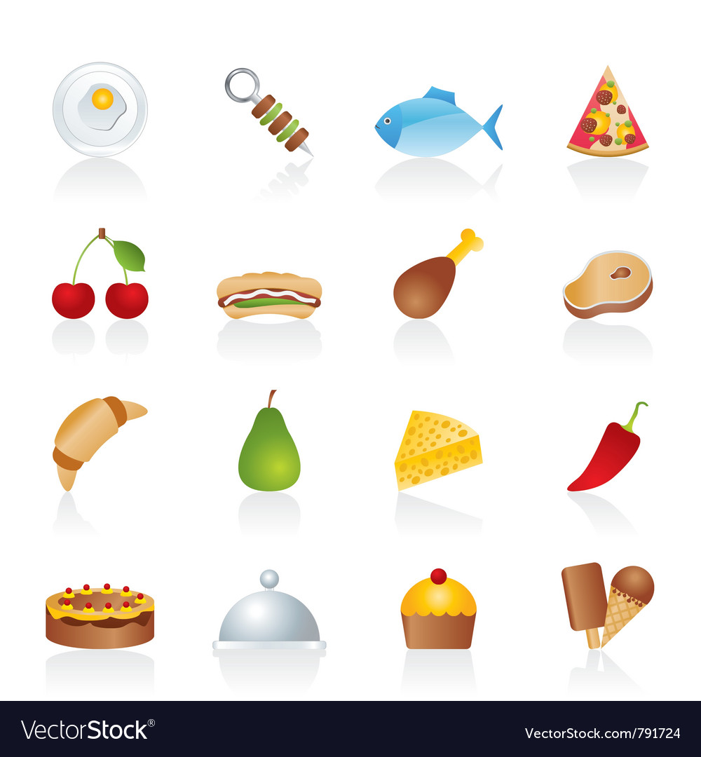 Different kind of food icons vector | Price: 3 Credit (USD $3)
