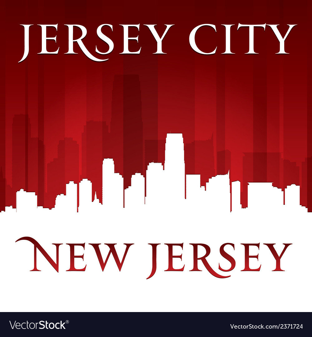 Jersey city new jersey skyline silhouette vector | Price: 1 Credit (USD $1)