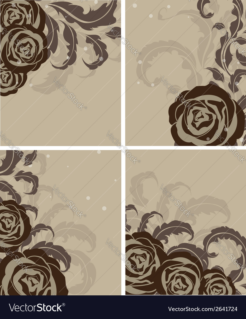 Leaves and roses vector | Price: 1 Credit (USD $1)