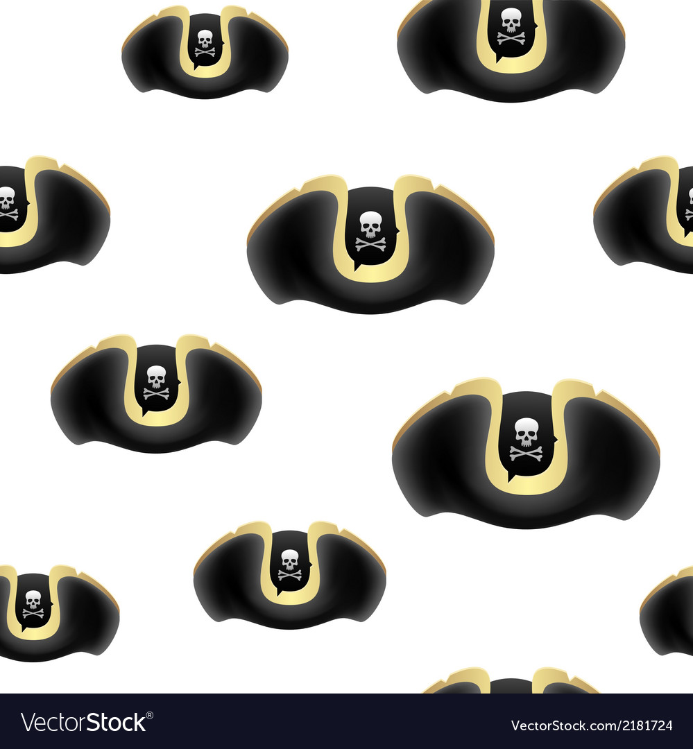 Pirate hat background vector | Price: 1 Credit (USD $1)