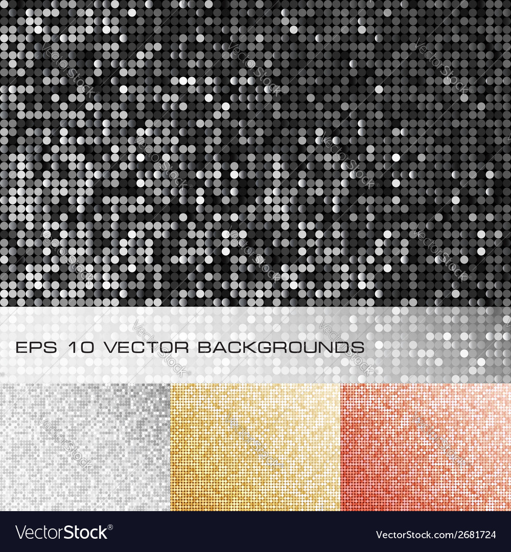 Set of sparkle sequin backgrounds vector | Price: 1 Credit (USD $1)
