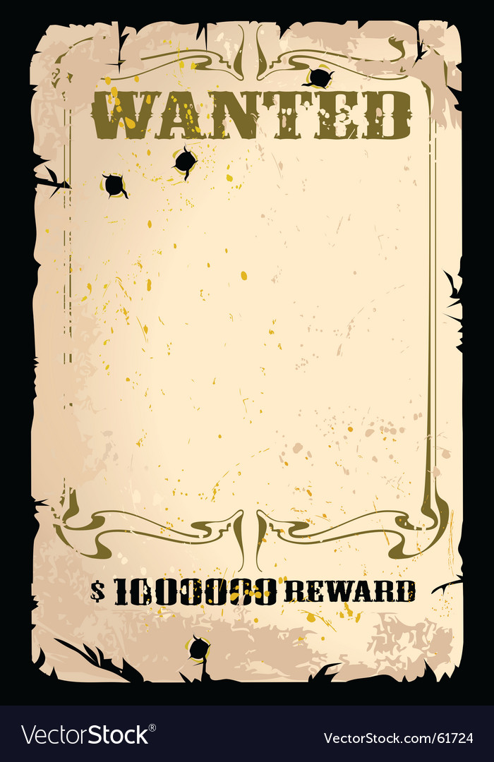 Wanted poster vector | Price: 3 Credit (USD $3)