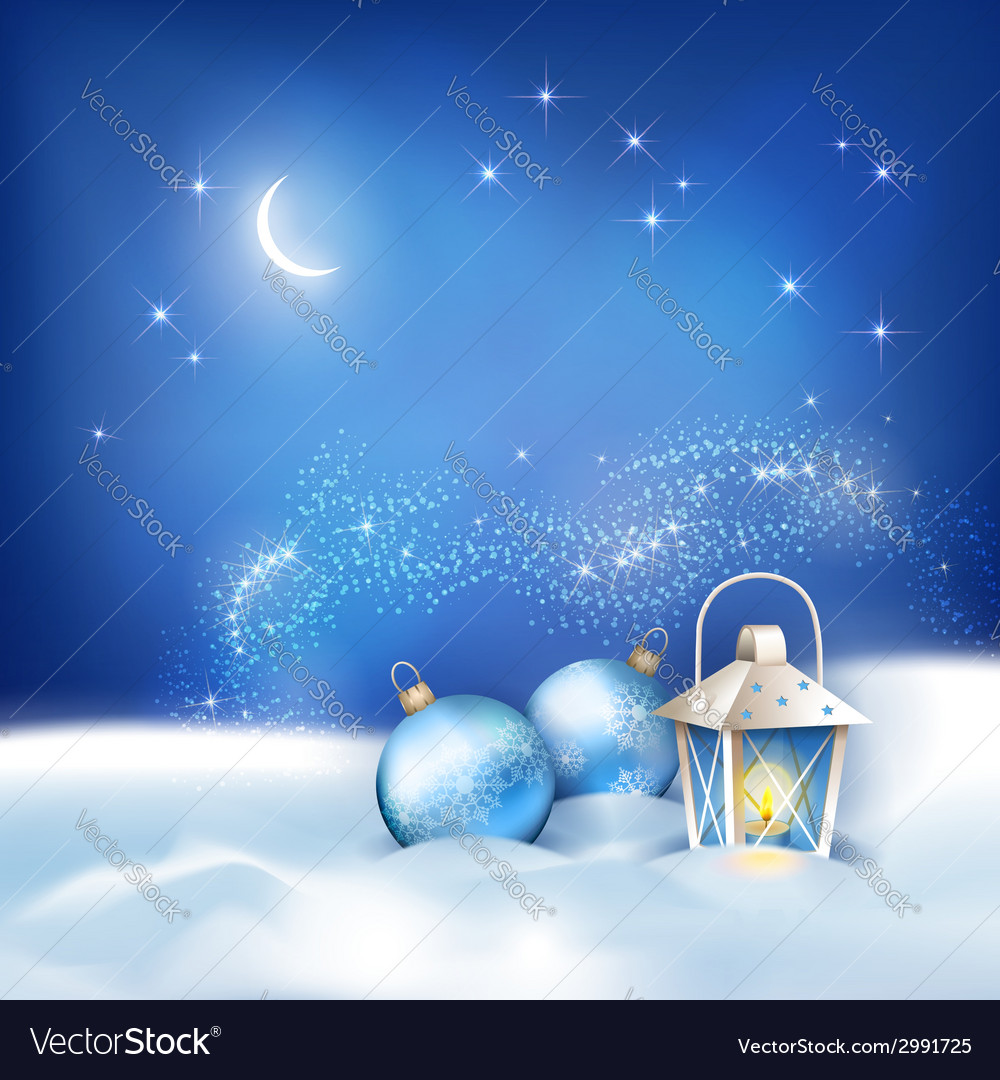 Abstract winter night background vector | Price: 3 Credit (USD $3)