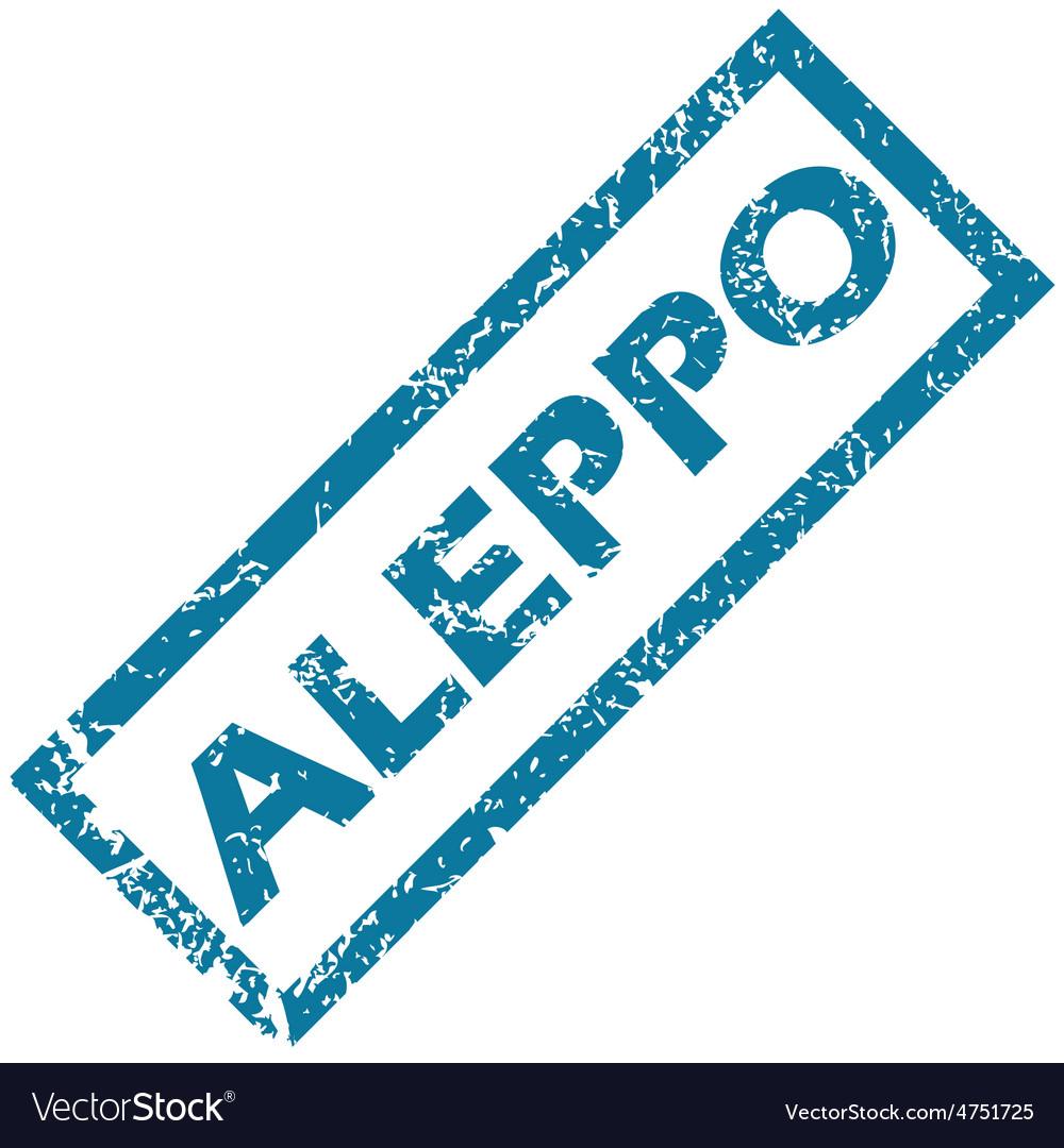 Aleppo rubber stamp vector | Price: 1 Credit (USD $1)