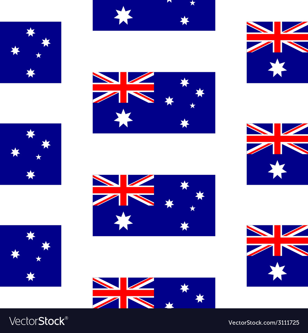 Australia flag seamless pattern vector | Price: 1 Credit (USD $1)