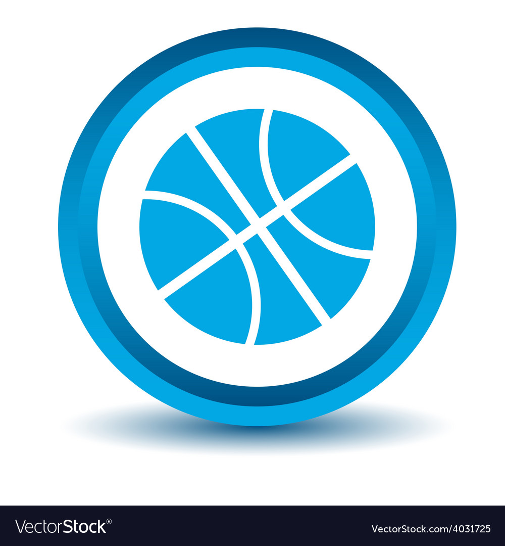 Blue basketball icon vector | Price: 1 Credit (USD $1)