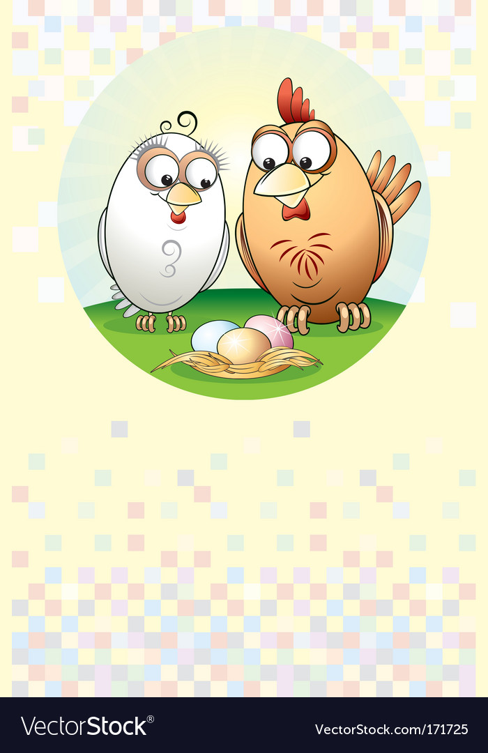 Chickens family vector | Price: 1 Credit (USD $1)