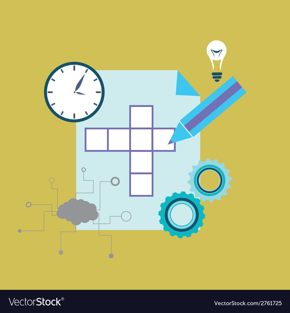 Crossword puzzle vector | Price: 1 Credit (USD $1)