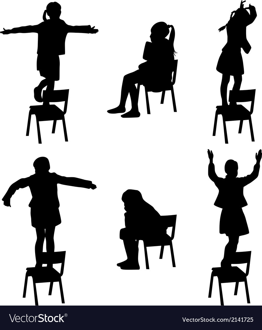 Dance on the chair vector | Price: 1 Credit (USD $1)
