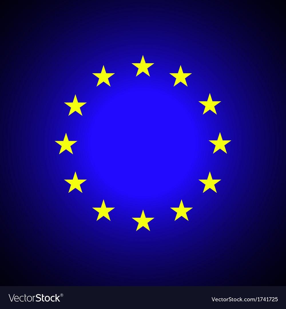 European union eu flag vector | Price: 1 Credit (USD $1)